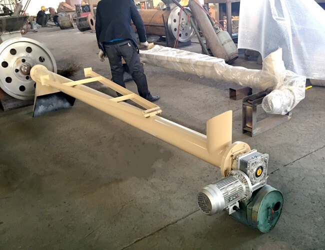 Flexible Fertilizer Industry Auger Conveyor BV / ISO / SGS Approval Carbon Steel Made