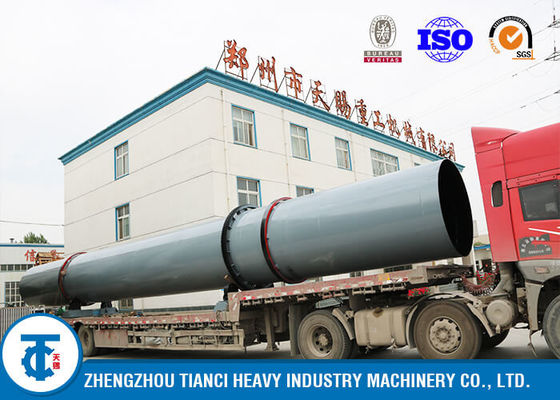 China Carbon Steel Rotary Drum Cooler , High Heat Exchange Rate Fertilizer Cooling Machine supplier