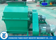 Double Cage Fertilizer Grinding Machine , Green Color Carbon Steel Fertilizer Grinder