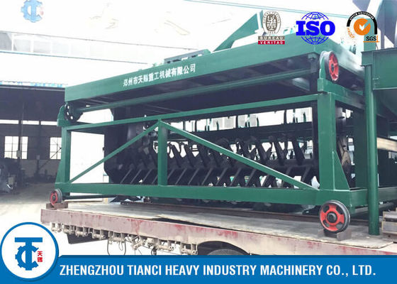 China Self - Moving Type Compost Turner Machine 10 - 15T/H Capacity Fruit Waste Use distributor